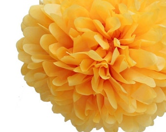 Golden Yellow Tissue Pom Poms