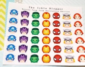 Heroes Tsum Tsum Planner Stickers Decorative Edition