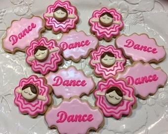 Ballet Dancer Themed Cookies