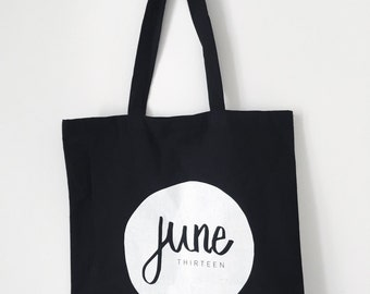 Canvas tote bag 'JUNE THIRTEEN'