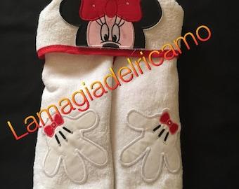 Minnie baby hooded bathrobe