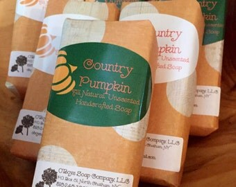 Unscented Pumpkin Handcrafted Soap, Oatmeal soap, Shea Butter soap, Exfoliator, Vegan Soap, All Natural Soap, Handmade Soap, unscented soap