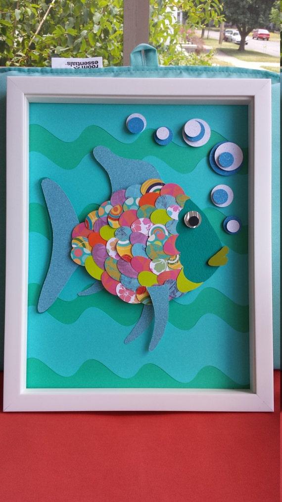 Nursery Wall Art Rainbow Fish Baby Decor Kids Fish Decor Ocean
