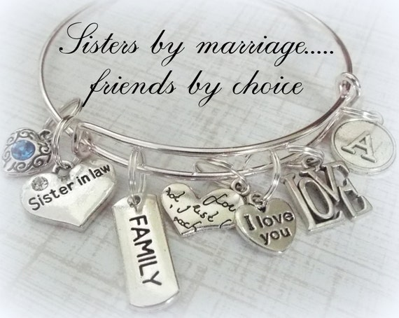 Perfect Wedding Gift For Sister: Sister-in-Law Gift Personalized Jewelry Gift By