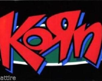 Rare Vintage Korn Graffiti Davis Munky Fieldy Head Vinyl Bumper Sticker-New!