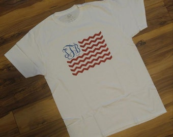 Personalized Flag Shirt (Memorial Day, Fourth Of July, Etc.)