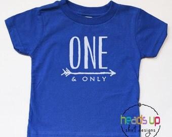 One Birthday Shirt Boy/Girl - First Birthday Baby Bodysuit - One And Only Bday Tee - 1 Birthday tshirt - Trendy Birthday t-shirt Toddler 1st
