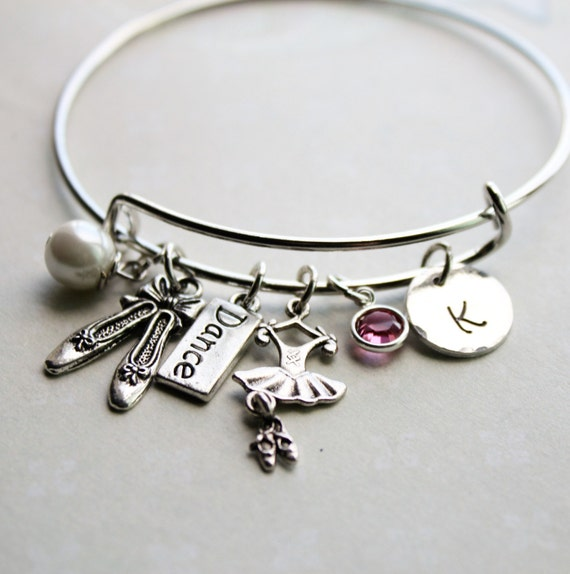 Ballet Charm Bracelet Dance Charm Bracelet By Loveherbyalissa