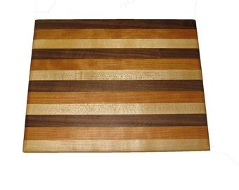 "12"" x 10.25"" x 1"" Maple/Cherry/Walnut Cutting Board"