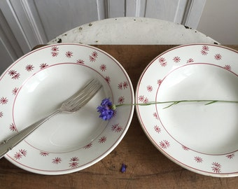 Set of 4 vintage French soup plates/ bowls