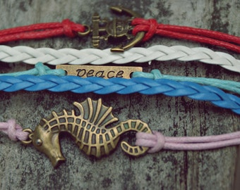 Nautical PEACE bracelet