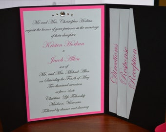 Pocket Fold Wedding Invites