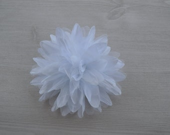 White Flower Hair Clip Baby Toddler Child