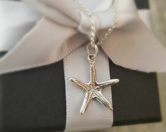 SILVER STARFISH NECKLACE -Artisan Jewellery - Nautical