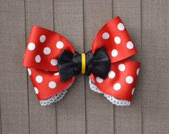 Disney Inspired Minnie Mouse Hair Bow