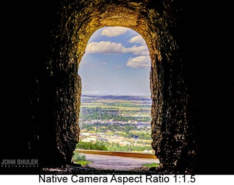 Tunnel Through Scott's Bluff: Landscape art photography prints for home or office wall decor.