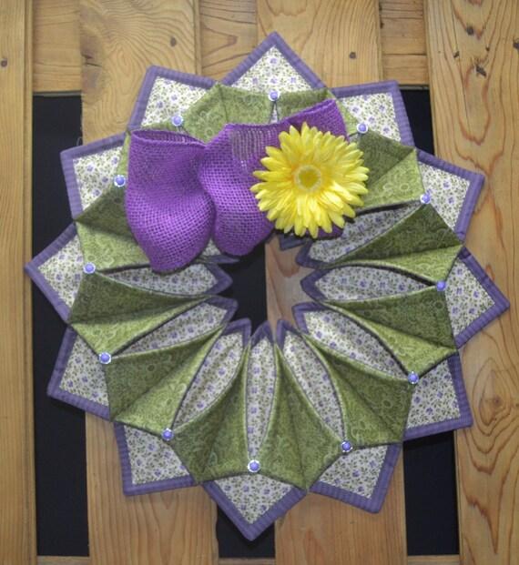Www Fotoventasdigital Com Diy Burlap Wreath That Folding: Items Similar To Fold'n Stitch Wreath On Etsy