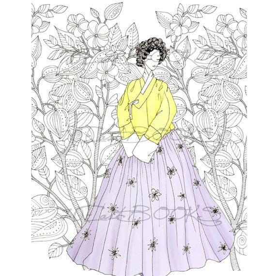 korean traditional dress coloring page murderthestout
