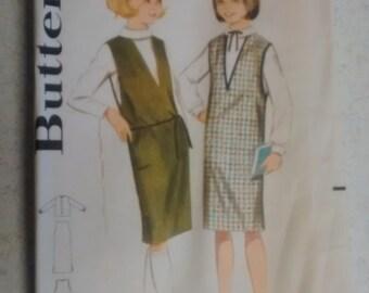 Vintage Butterick young girls Jumper pattern 3197
