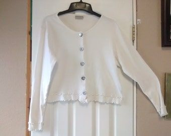 Coldwater Creek white sweater