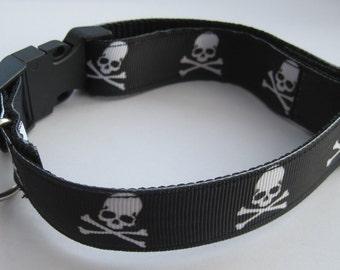 Dog collar skull or matching leash halloween