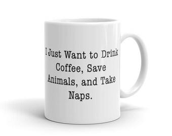 Coffee, Animals, and Naps Mug