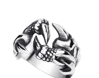 Dragon claw ring stainless steel 316L for him and her (TI-014)