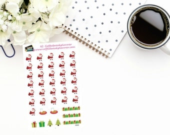Planner Stickers| Santa Date Covers| Santa Countdown Stickers|Santa Date Cover Stickers| Santa Number Stickers|D042