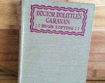 Doctor Dolittle's caravan - Hugh Lofting - vintage dr dolittle - canary - birds - vintage children's book - animal book
