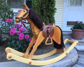 Wooden Rocking Horse // Cavallo Lavianese // Handmade Artisan Rocking Horse // Pane Perso Woodcrafts