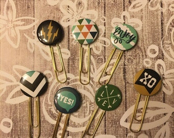 Quirky Button Planner Clips