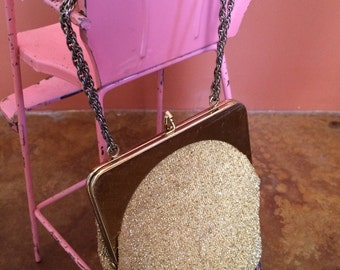 Vintage Harry Levine Clutch // Gold Evening Clutch // HL USA Purse/Clutch/Bag