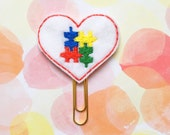 Planner Clip, Autism Awareness, SALE CLEARANCE, Bookmark, Paperclip, Erin Condren, MAMBI, Happy Planner