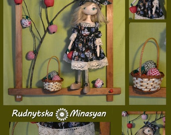 Beautiful doll with the apples...