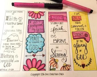 """Bible Journaling Margin Art """"Faith"""""""