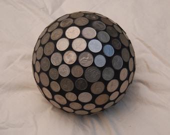 Coin Gazing Ball