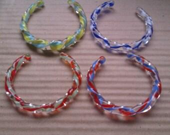 4 barley twist glass bangles