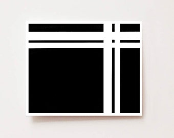 Abstract wall art print, black and white lines (2 of 3)- Fine art Giclee print, Wall art, abstract art, modern art, black and white