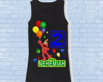Elmo Birthday Shirt - Elmo Tank Top