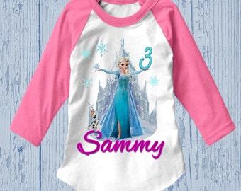 Frozen Birthday Shirt - Elsa Birthday Shirt