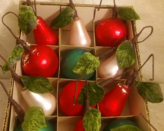 Vintage Christmas Mercury Glass Ornaments 1950's