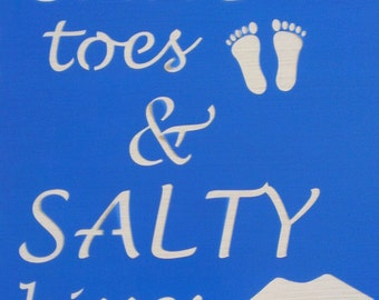 Sandy toes and Salty Kisses stencil *Free gift with every order*