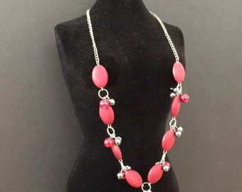 Red Silk Necklace