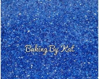 Navy Blue. 4 oz Decorating Edible Sugar Crystals. Party Supplies, Cupcakes, Cookies, Cake,  Ice Cream.