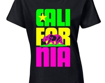 CALIFORNIA STACKED Ladies Shirt S-3XL