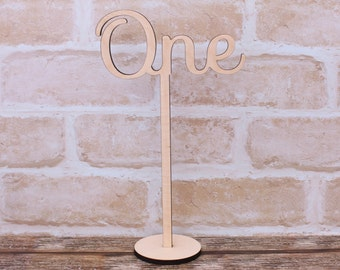 Wedding Table Numbers or Signs