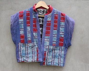 vintage ethnic patchwork reversable jacket