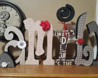 12 inch Wood Family or Welcome Letters