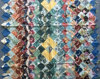 1940s Chintz Floral Small Quilt Top