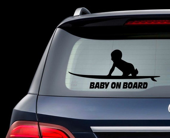Surfboard Baby On Board Car Decal Baby On Board By